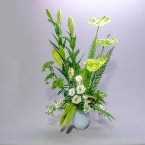 לב ירוק - לה ולי פרחים