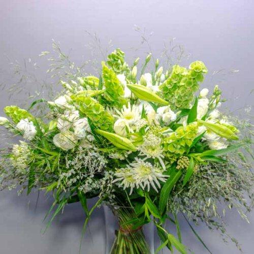 היפסטר לבן ירוק - לה ולי פרחים