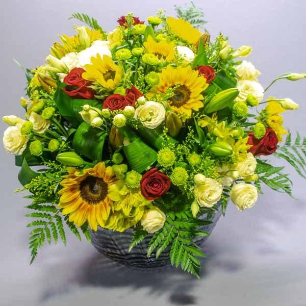 חמניות לוהטות - לה ולי פרחים