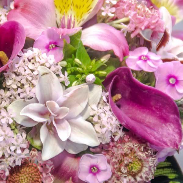 זר כלה פרפרים ורודים - לה ולי פרחים