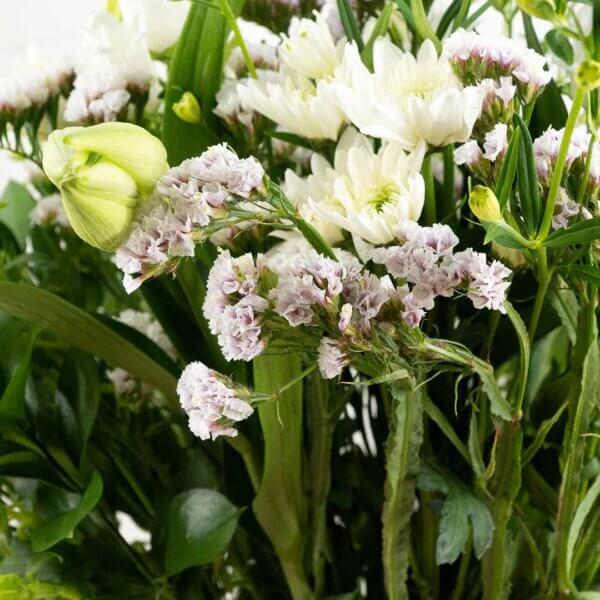 בוקט לבן - לה ולי פרחים